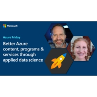 Logo of the podcast Better Azure content, programs & services through applied data science | Azure Friday
