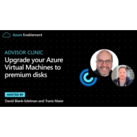 Logo of the podcast Advisor Clinic: Upgrade your Azure Virtual Machines to premium disks | Azure Enablement