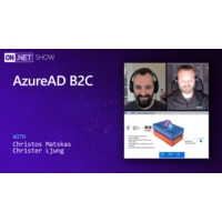 Logo of the podcast Using AzureAD B2C for authenticating users | On .NET