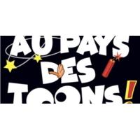 """Logo du podcast """"Au pays des Toons"""", une enquête farfelue"""
