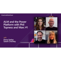 Logo of the podcast ALM and the Power Platform with Phil Topness and Marc Schweigert - Part 1 | #LessCodeMorePower