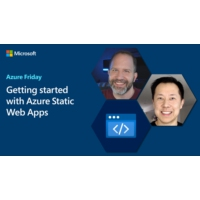 Logo of the podcast Getting started with Azure Static Web Apps | Azure Friday