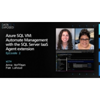 Logo of the podcast Azure SQL VM: Automate Management with the SQL Server IaaS Agent extension (Ep. 2) | Data Exposed