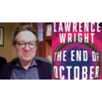 "Logo du podcast ""The End of October"": How Lawrence Wright's New Novel, Written Before COVID, Predicted the Pandemic"