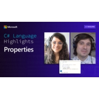 Logo of the podcast C# Language Highlights: Properties | On .NET