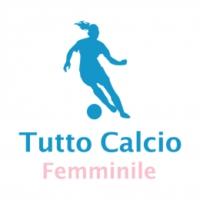 Logo du podcast Tutto Calcio Femminile con Luca e Jacopo Calamai. In studio Ilaria Mauro. In collegamento Katia Ser…