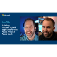 Logo of the podcast Building modern hybrid applications with Azure Arc and Azure Stack | Azure Friday