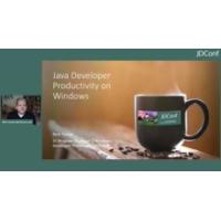 Logo of the podcast Java Developer Productivity on Windows | JDConf 2020