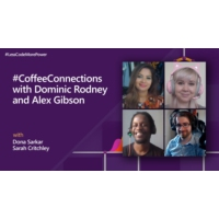 Logo of the podcast #CoffeeConnections with Dominic Rodney and Alex Gibson | #LessCodeMorePower