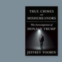 "Logo of the podcast Jeffrey Toobin Explores Donald Trump's ""True Crimes and Misdemeanors"""
