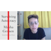 """Logo of the podcast Masha Gessen on """"Surviving Autocracy"""": Fight Politics of the Past with Potent Politics of the Future"""