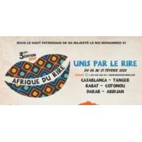 """Logo du podcast Oualas, humoriste et initiateur du festival """"Afrique du rire"""""""
