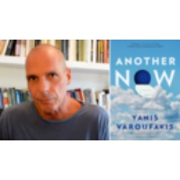 """Logo of the podcast """"Another Now"""": Socialist Alternatives to Capitalism Explored in New Novel by Yanis Varoufakis"""