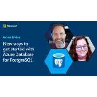 Logo of the podcast New ways to get started with Azure Database for PostgreSQL | Azure Friday