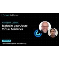 Logo of the podcast Advisor Clinic: Rightsize your Azure Virtual Machines  | Azure Enablement