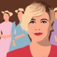 "Logo du podcast Greta Gerwig's ""Little Women,"" and Damon Lindelof's ""Watchmen"""