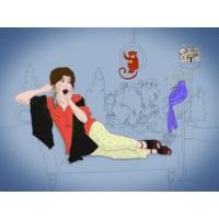 Logo of the podcast A Bela e os monstros que transforma em arte