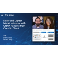 Logo of the podcast Faster and Lighter Model Inference with ONNX Runtime from Cloud to Client | AI Show