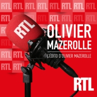 "Logo of the podcast Emmanuel Macron : ""on le voit lui, et on oublie les candidats"", remarque Olivier Mazerolle"