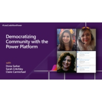 Logo of the podcast Democratizing Community with the Power Platform | #LessCodeMorePower