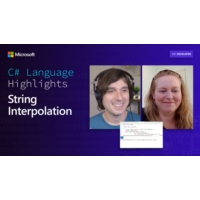 Logo of the podcast C# Language Highlights: String Interpolation | On .NET