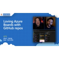 Logo of the podcast Loving Azure Boards with GitHub repos | The DevOps Lab