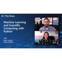 Logo of the podcast Machine Learning and Scientific Computing with Python  | AI Show