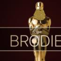 "Logo of the podcast The Brody Awards, and Louis Menand on ""The Free World"""