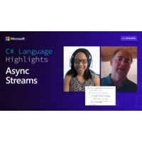 Logo of the podcast C# Language Highlights: Async Streams | On .NET
