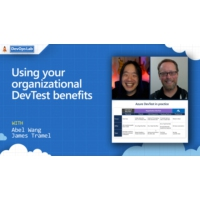 Logo of the podcast Using your organizational DevTest benefits | The DevOps Lab