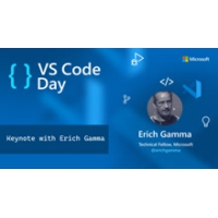 Logo of the podcast VS Code an overnight success...10 years in the making with Erich Gamma | VS Code Day 2021