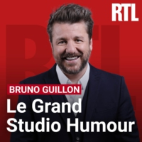 Logo du podcast Jeff Panacloc dans le Grand Studio RTL Humour de Bruno Guillon