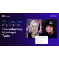 Logo of the podcast C# Language Highlights: Deconstructing Non-tuple Types | On .NET
