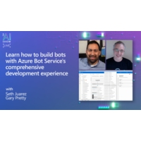 Logo of the podcast Learn how to build bots with Azure Bot Service's comprehensive development experience | AI Show