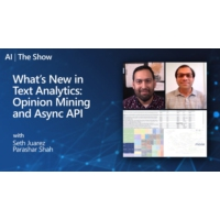 Logo of the podcast What's New in Text Analytics: Opinion Mining and Async API | AI Show