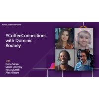 Logo of the podcast #CoffeeConnections with Dominic Rodney | #LessCodeMorePower