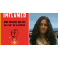 """Logo of the podcast """"Inflamed: Deep Medicine and the Anatomy of Injustice"""": Extended Interview with Dr. Rupa Marya"""