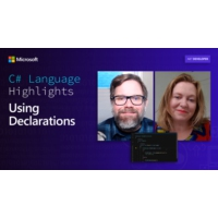 Logo of the podcast C# Language Highlights: Using Declarations | On .NET