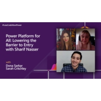 Logo of the podcast Power Platform for All: Lowering the Barrier to Entry with Sharif Nasser | #LessCodeMorePower