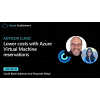 Logo of the podcast Advisor Clinic: Lower costs with Azure Virtual Machine reservations | Azure Enablement