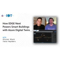 Logo of the podcast How EDGE Next powers Smart Buildings with Azure Digital Twins | Internet of Things Show
