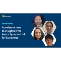 Logo of the podcast Accelerate time to insights with Azure Synapse Link for Dataverse | Azure Friday