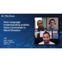 Logo of the podcast How Language Understanding enables Voice Commands in Word Dictation | AI Show
