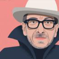 Logo of the podcast Elvis Costello Talks with David Remnick