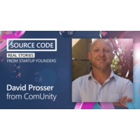 Logo of the podcast David Prosser from ComUnity | Source Code: Real Stories from Startup Founders