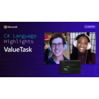 Logo of the podcast C# Language Highlights: ValueTask | On .NET