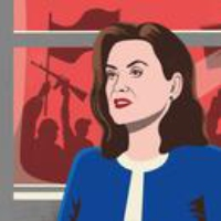 Logo of the podcast Governor Gretchen Whitmer on COVID-19, Trump, and the Accusations Against Joe Biden