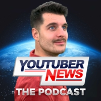 Logo of the podcast YouTuber News: The Podcast
