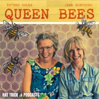 Logo of the podcast Queen Bees with Jane Horrocks and Esther Coles
