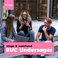 Logo of the podcast RUC Undersøger
